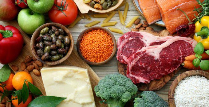 cibo con molte proteine